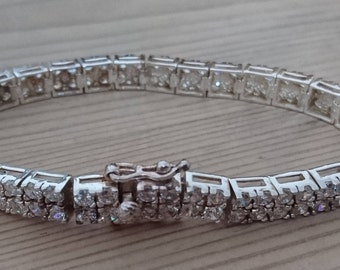 Vintage sterling silver and CZ tennis bracelet