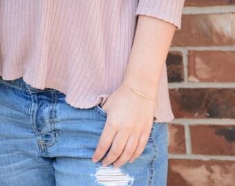 Gold bar bracelet. Gold delicate bracelet. Gold filled simple bracelet. Gold filled everyday bracelet. Gold filled bracelet
