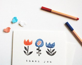Flower Trio thank you card