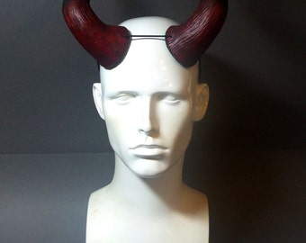 Large Devil Horns Red and Black  - Carnival, Halloween, Cosplay, Fancy dress, Masquerade, LARP - Demon Troll horns