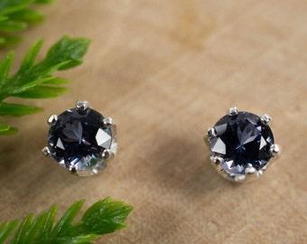 Blue Spinel Sterling Silver Earrings