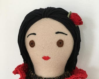 One-of-a-kind handmade cloth doll: Fortunetta