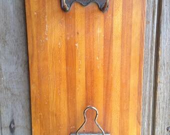vintage clipboard / Genuine Shannon clipboard / vintage office / message board