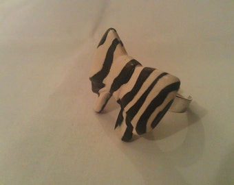 Zebra Bow Ring