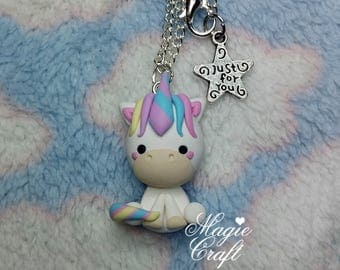 Unicorn Necklace - Handmade in Polymer Clay