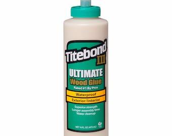 Titebond III 3 Ultimate WOOD GLUE waterproof & uv exterior tight bond outdoor water proof professional tight bond pro 16 ounce oz 1414