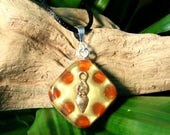 Carnelian Orgone Pendant - Mother Goddess - Sacral Chakra - Lightworker Jewelry - Orgone Chi Prana Energy Balancing - Small