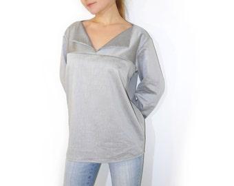 PDF Sewing Pattern Women's Cotton or Linen Shirt Sizes 38-40-42-44-46-48-50-52 n.47