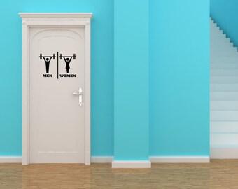 Bathroom Signs Gym cat restroom | etsy