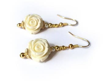 Beauty and the Beast Inspired Ivory Princess Belle Earrings