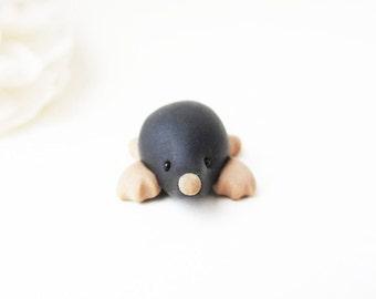 Mole Ornament / Mole Desk Buddy / Mole Pocket Pal / Mole Figurine / Tiny Mole / Mole Miniature / Cute Animal Ornament
