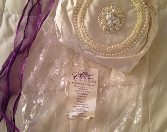 Brides White Wedding Embellished Purse Filled With Some Necessities