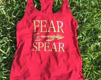 Fear The Spear college Tank Top FSU