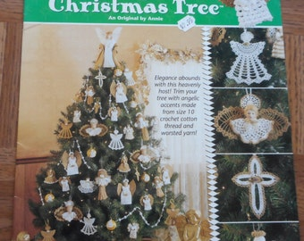 "Pattern Book from Annie's Attic ""Ultimate Angel Christmas Tree"" Angels in Thread Crochet #871611"