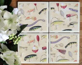 Handmade Coasters - Coasters - Drink Coasters - Tile Coasters - Ceramic Coasters - Ceramic Tile Coasters - Coaster Set - Table Coasters