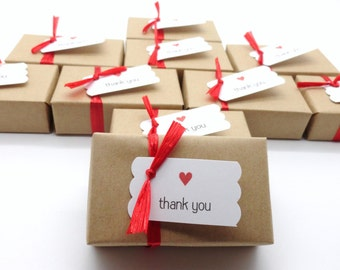 10 Affordable Soap Party Favors with Thank You Tags, Kraft Paper Wrap, Choose your ribbon color,  Wedding Favor, Bridal Shower Party Favor