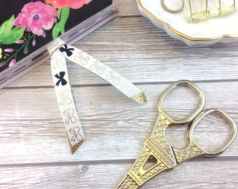 Gold & Black Bow Planner Clip // #05