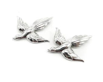 Vintage Coro Bird Brooches, Sterling Silver, Signed