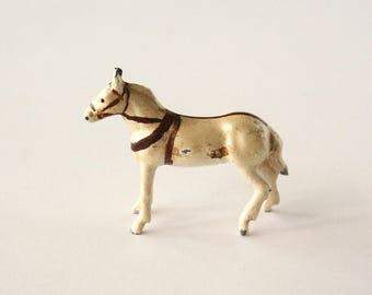 Miniature horse, vintage lead horse, cast metal horse