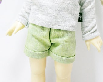 bjd yosd 1/6 doll clothes, shorts solid olive green