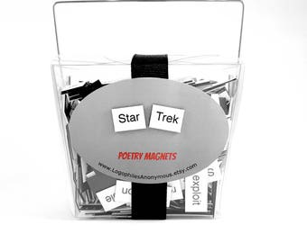 Star Trek Poetry Magnet Set - Refrigerator Poetry Word Magnets - Free Gift Wrap