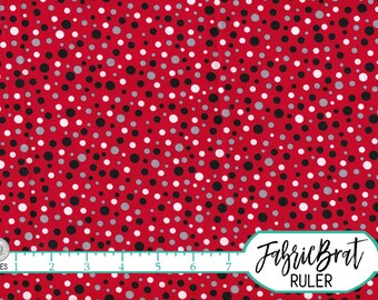 RED AND BLACK Dot Fabric by the Yard Fat Quarter Red Mickey Mouse Coordinate Fabric 100% Cotton Quilting Fabric Apparel Fabric Yardage w6-8