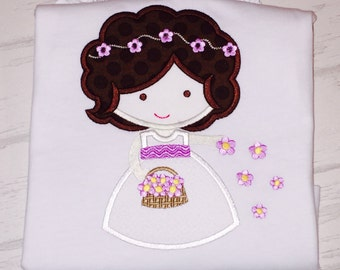 Flower Girl Cutie Applique Shirt