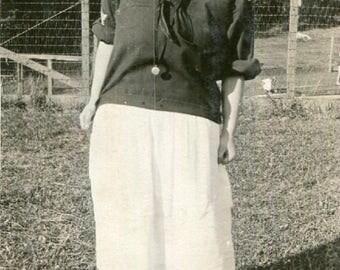 Vintage Photo..Dimples, 1910's Original Found Photo, Vernacular Photography