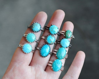 Turquoise Ring Sterling Silver, Turquoise Stacking Ring