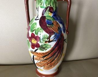 Phoenix vase etsy for Phoenix glass decorating co
