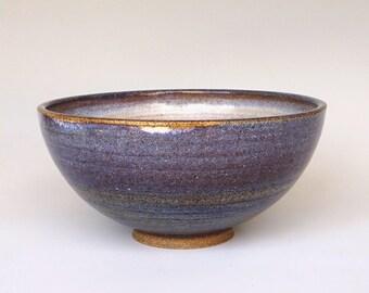 Ceramic bowl, large bowl, serving bowl, lavender bowl, blue bowl, handmade, high fired
