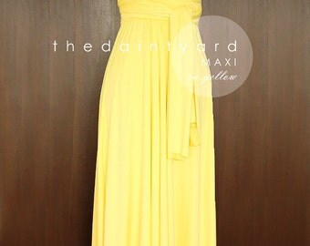 SALE - Petite Maxi infinity dress in Yellow