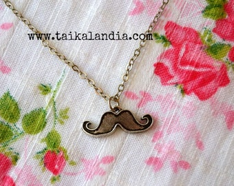 Mustache Necklace - Mens Necklace - Gift for Him - Mens Jewelry - Mustache Jewelry - Boyfriend Gift - Mustache Gift - Mustache Love