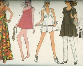 Vogue 7367 Maternity Swimsuit and Tennis Dress Sewing Pattern 34 Bust