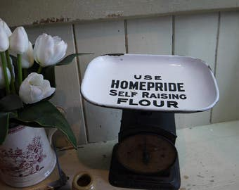 Rare Vintage Kitchen Weighing Scales - Homepride Advertising