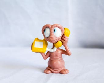 Vintage 1988 Applause E.T Extra-Terreitral PVC Figurine Phone Home Cake Topper