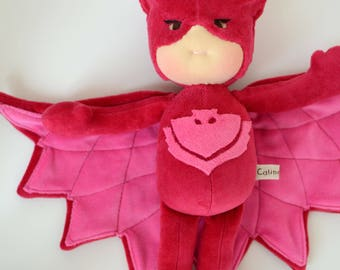 "Owlette pj mask 12"" waldorf doll- Made to order by Calinette"