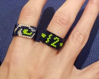 Seattle Seahawks - Beaded Ring - Gift