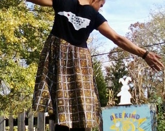 THC DRESS t Shirt Dress Tennessee Swing Dress Upcycled Dress Recycled Dress Short Dress Circle Skirt Vintage Skirt One of a Kind