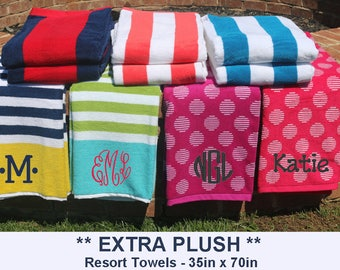 Monogrammed Beach Towel, Personalized Beach Towel, Beach Towel, Resort Beach Towel, Embroidered Towel, Bachelorette Party, Bridesmaid Gift