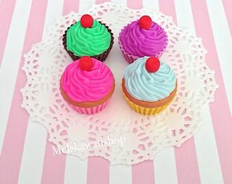 Frosted Cupcake Eraser Set