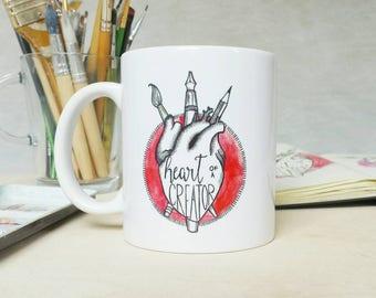Mug Heart of a Creator