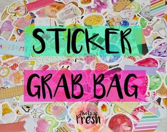 Sticker Grab Bag, Mystery Surprise set of 25 stickers, Grab Bag, Planner Stickers, Happy Planner stickers, Erin Condren stickers, Calendar