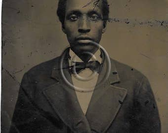 African American Tintype photograph of a Very handsome man
