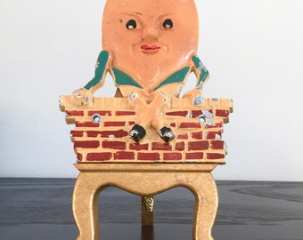 vintage Metal Humpty Dumpty Wall Hanging - Made In England