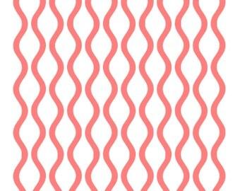Wavy Pattern Stencil, Wavy Modern Pattern Stencil, Wavy Pattern Cookie Stencil, 5.5 x 5.5, Wavy Pattern Cake Stencil, Curvy Lines Stencil