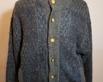 FREE  SHIPPING  Italian Men Wool Sweater Jacket