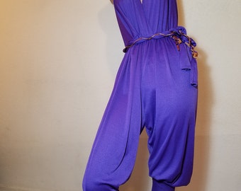 FREE  SHIPPING  1960  Halter  Jumpsuit