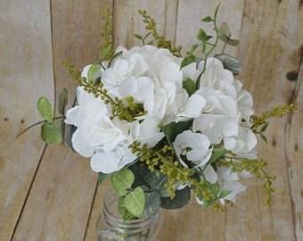 Rustic hydrangea bouquet