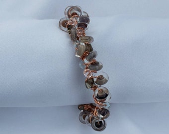 Copper and Glass Bracelet